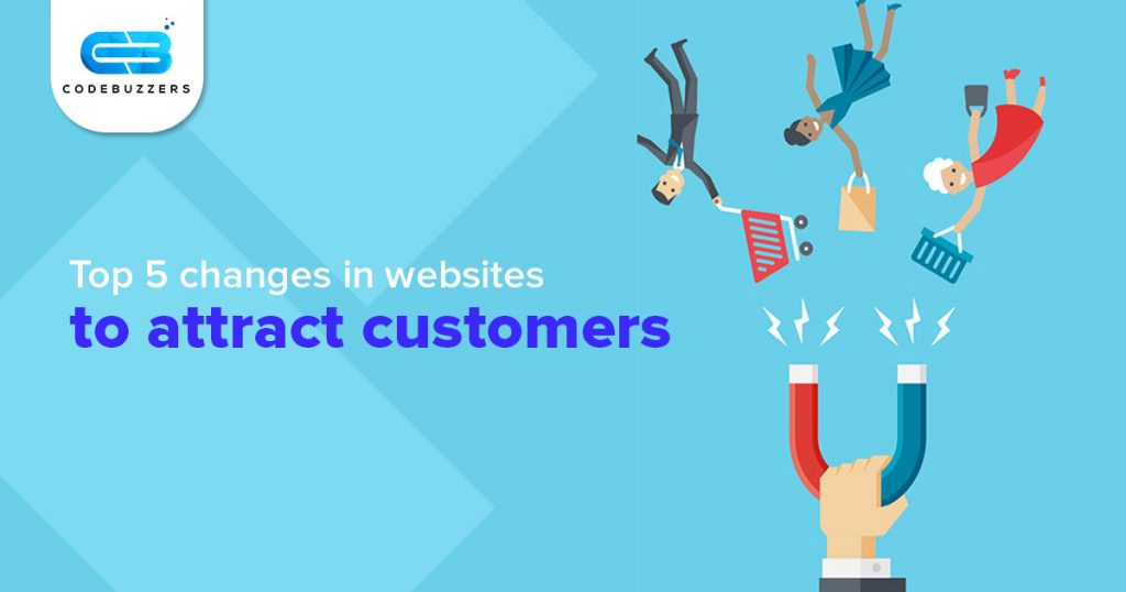 website to attract customers